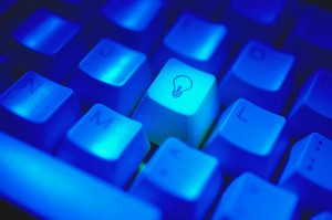 Lightbulb Key on Computer Keyboard