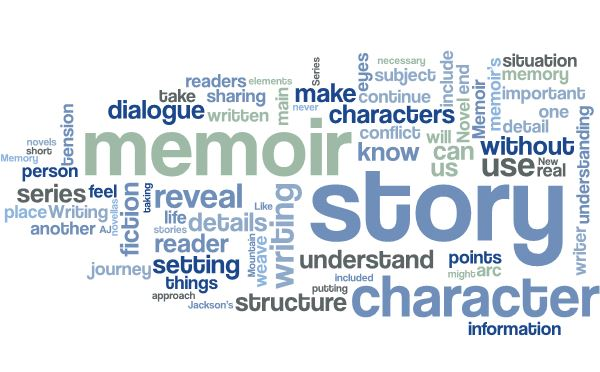 writing a memoir like a novel six elements of fiction cate macabe novel memoir series word cloud