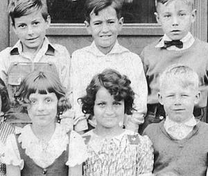 Audrey Salerno, 3rd grade at Garfield Elementary, Peoria, IL, circa 1936